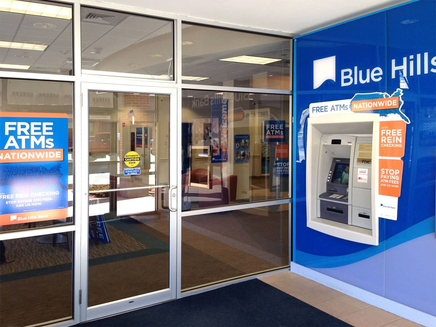 Interior Signage at Blue Hills Bank