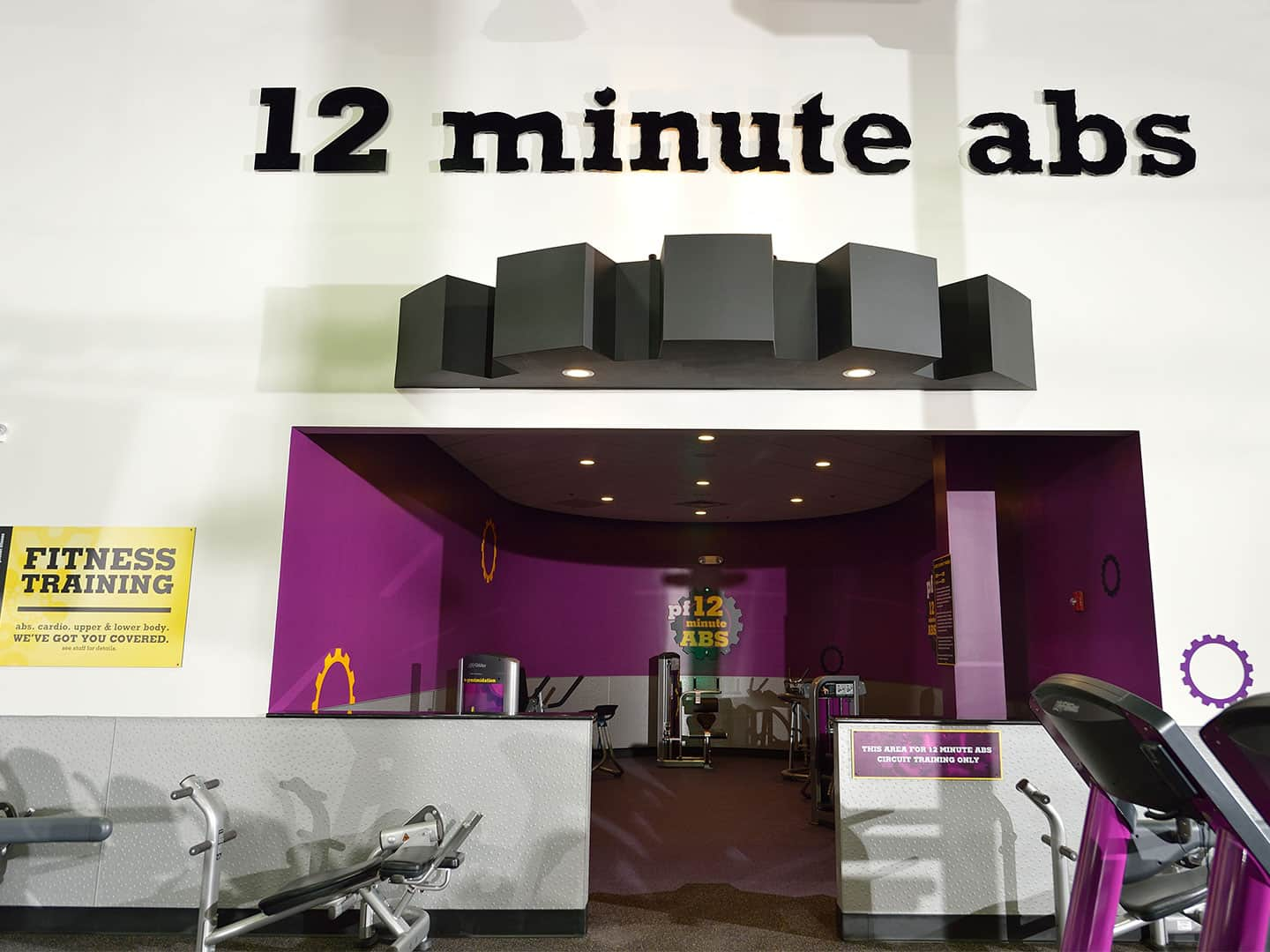 Planet Fitness - cut letters and interior signage