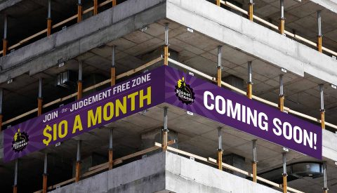Banners on New Construction