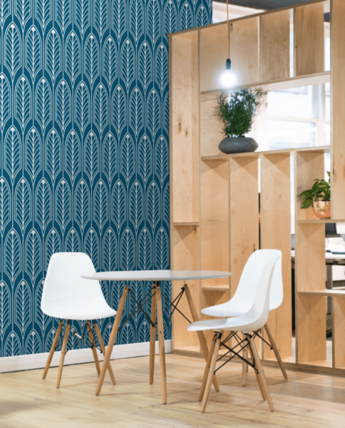 Wallcovering in Café